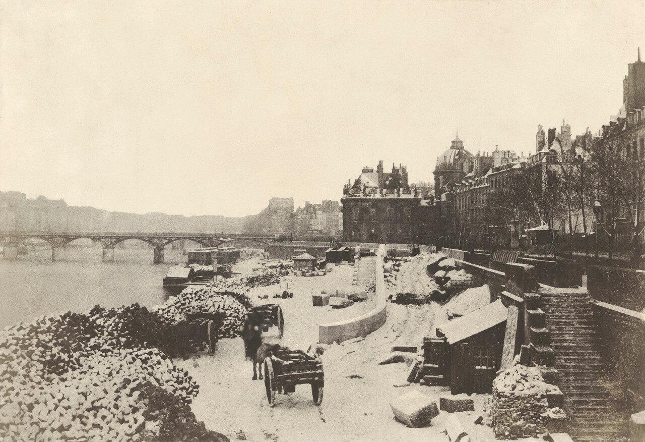 1851 - 1855. Вид на мост Святых Отцов
