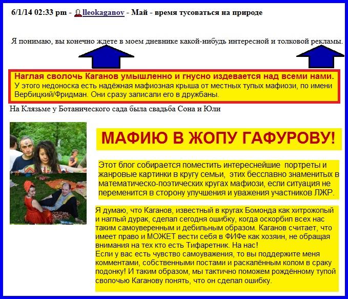 Каганов, реклама