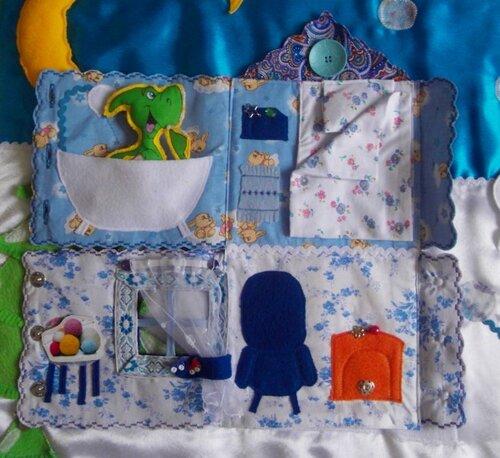 Развивающий коврик для детей... Волшебный домик... ванная комната