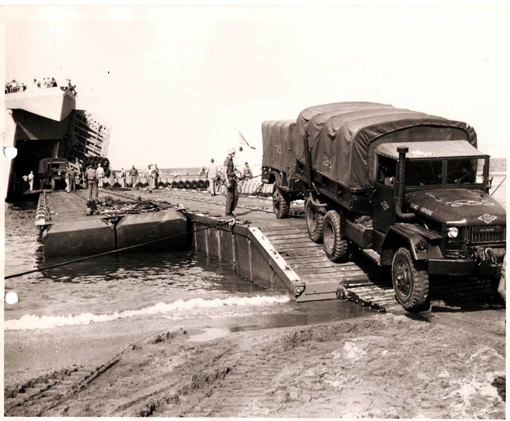 Seabees at Red Beach, Lebanon