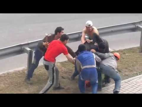 Битва между таджиками и узбеками Москва сити