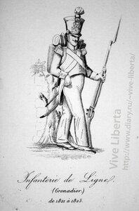 гренадер линейной пехоты 1821-1825