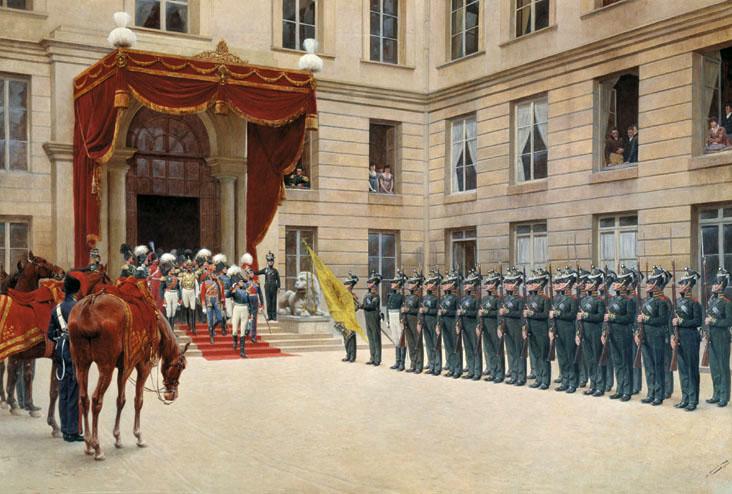 Розен И. С. Гвардейский экипаж  в Париже. 1814-a.jpg