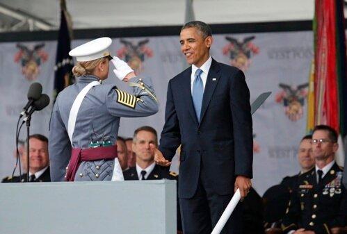 Обама, Вест-Пойнт