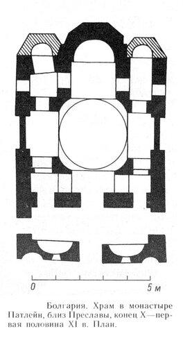 План храма монастыря Патлейн, Болгария