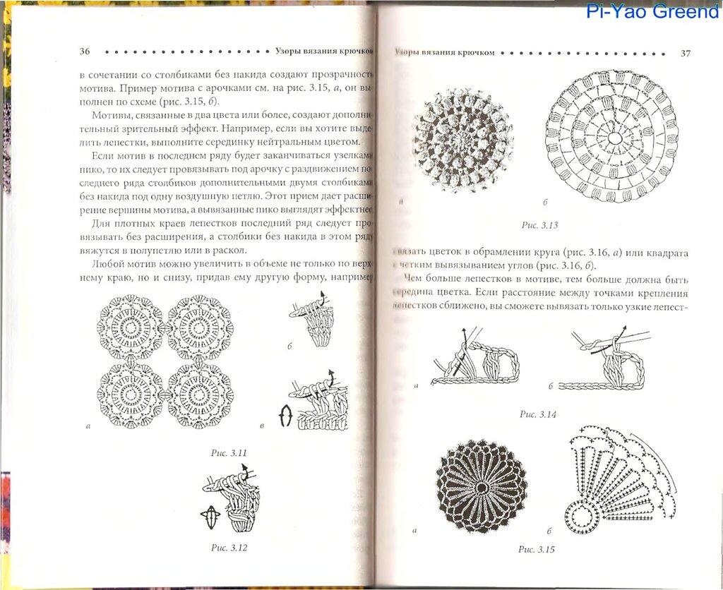 рисунки крючком книга