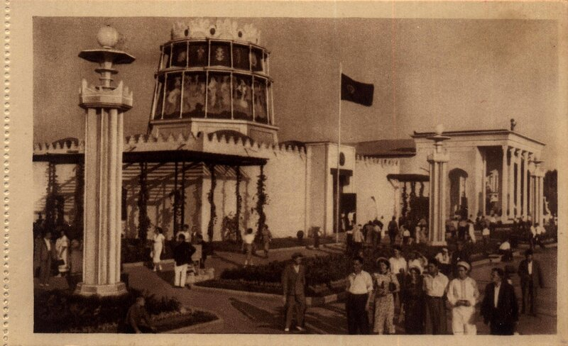 ВСХВ 1940. Павильоны Башкирской АССР и Туркменской ССР.jpg