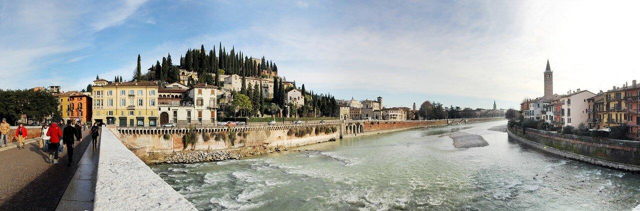 Верона. Река Адидже и Каменный мост (Ponte Pietra)