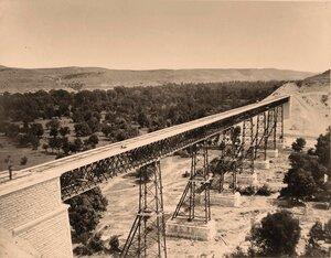 Вид Инкерманского моста Лозово-Севастопольской железной дороги.