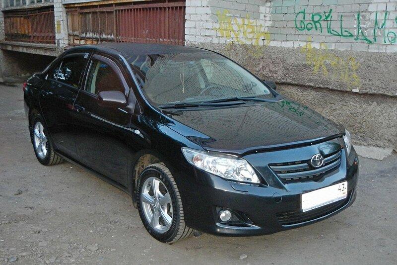 Автомобиль Toyota corolla, на котором ехали из Кирова в Крым
