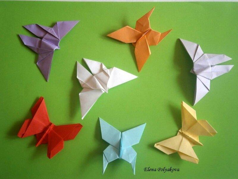 Бабочки-оригами со схемами сборки Бумагопластика Оригами.