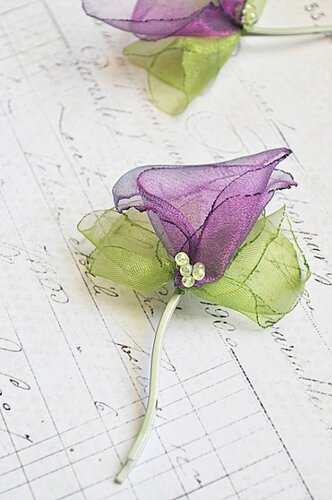 Цветы из органзы