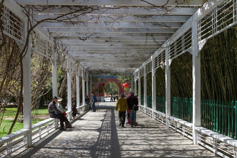 Пергола, парк Чжуншань гунъюань, Пекин