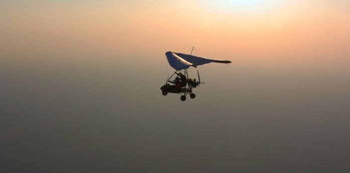Полёты на мото-дельтаплане