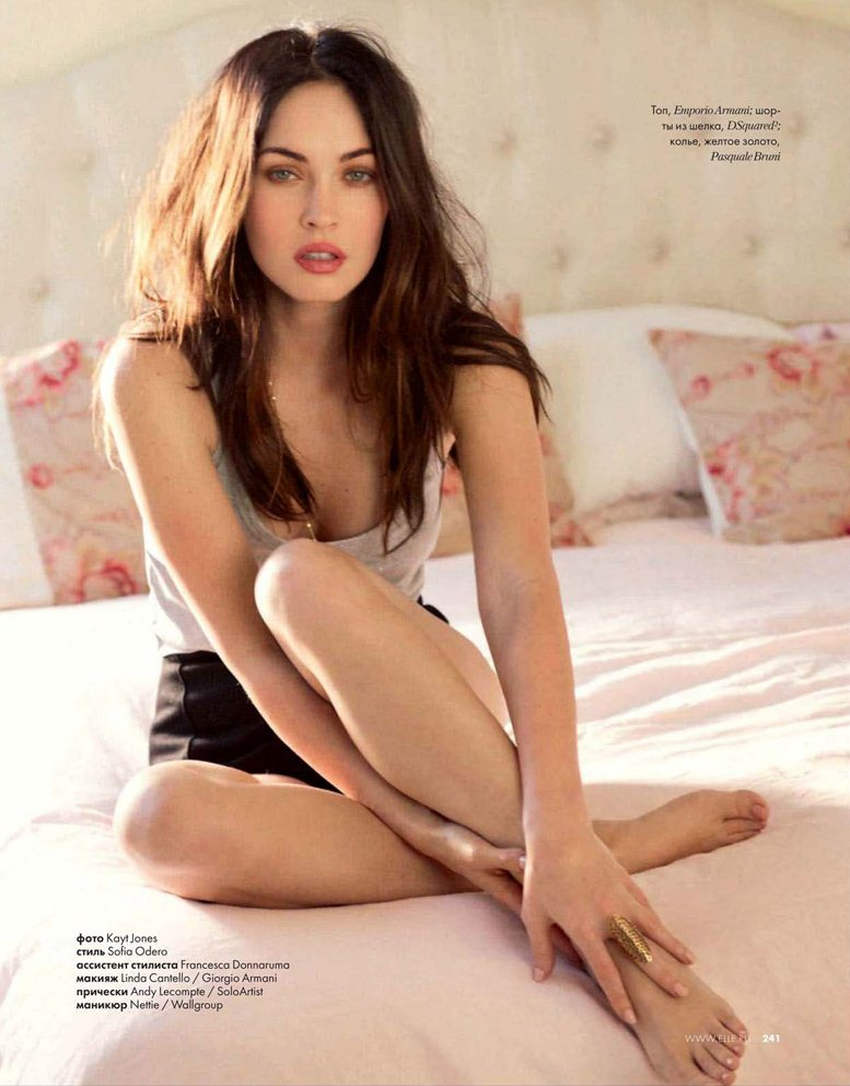 Megan Fox by Kayt Jones / Меган Фокс в журнале ELLE Россия, октябрь 2011