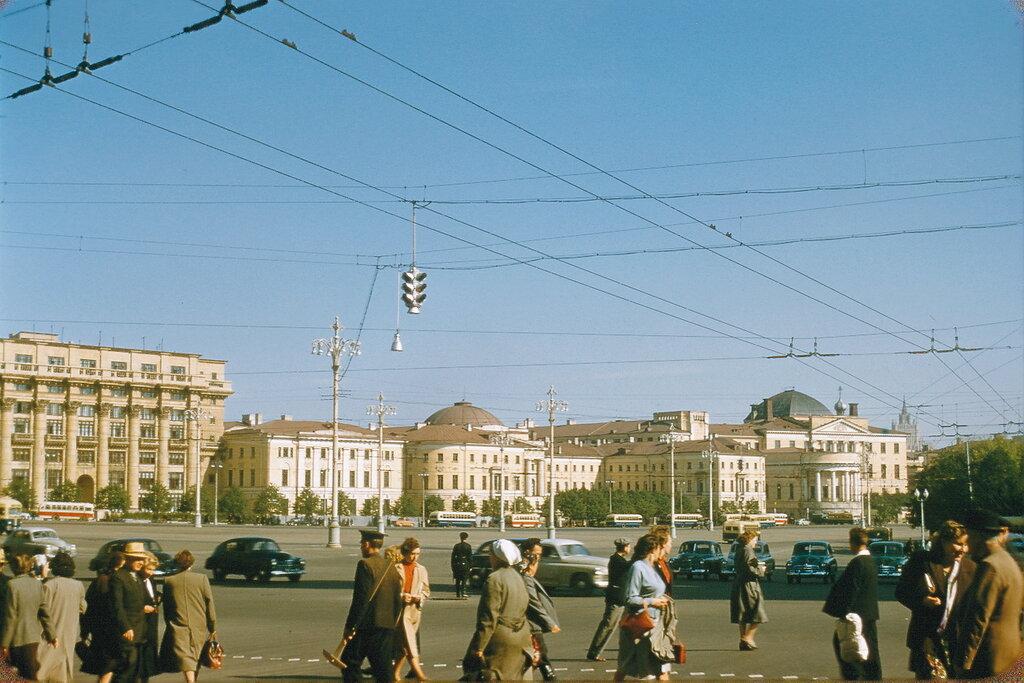 Фотографии Жака Дюпакье (Jacques Dupâquier).Москва, 1956