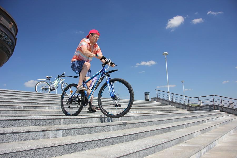 Первая велопрогулка по Казани