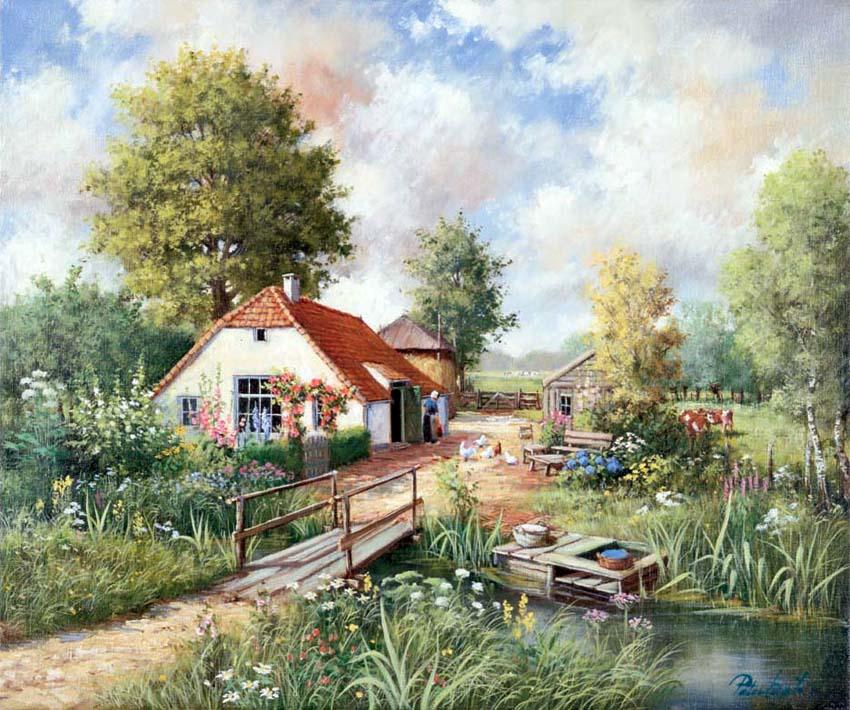 горячие видео домики у озера месяц над домами стихи можно его
