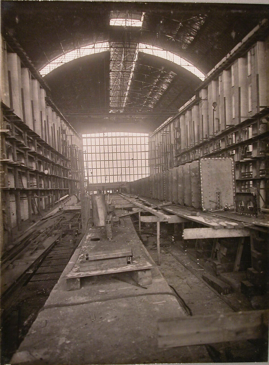 05. Вид диафрагмы вертикального киля строящегося линейного корабля «Полтава». 22 декабря 1909 г.