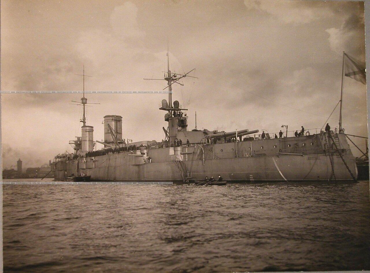 123. Общий вид линейного корабля «Полтава» (вид с кормовой части). 12 октября 1914 г.