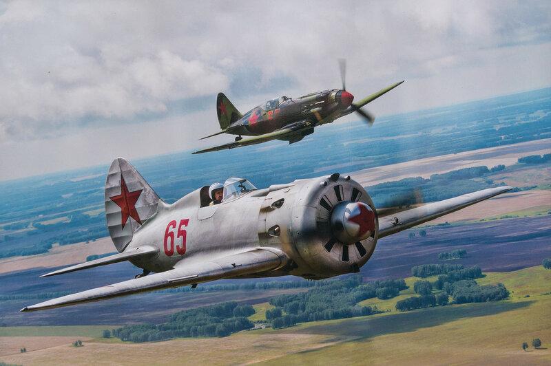 Советские истребители Миг-3 и И-16