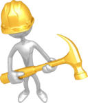 gold man clipart