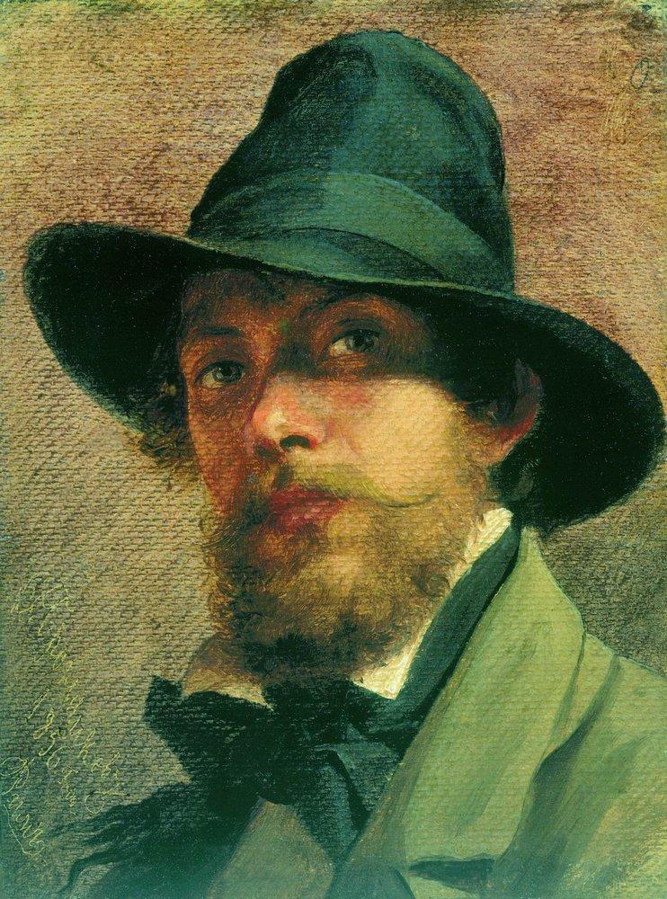 Автопортрет.1856. Бронников Фёдор Андреевич (1827-1902)