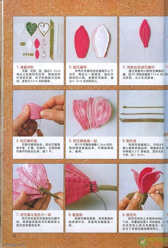 Making fabric flowers