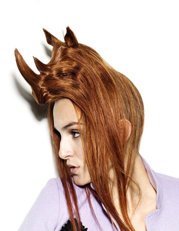 Необычные шляпки из волос Наги Нода (Nagi Noda)