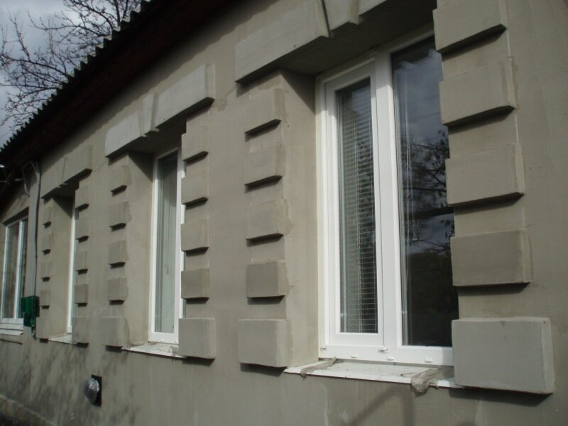 Как сделать углы из пенопласта на фасаде