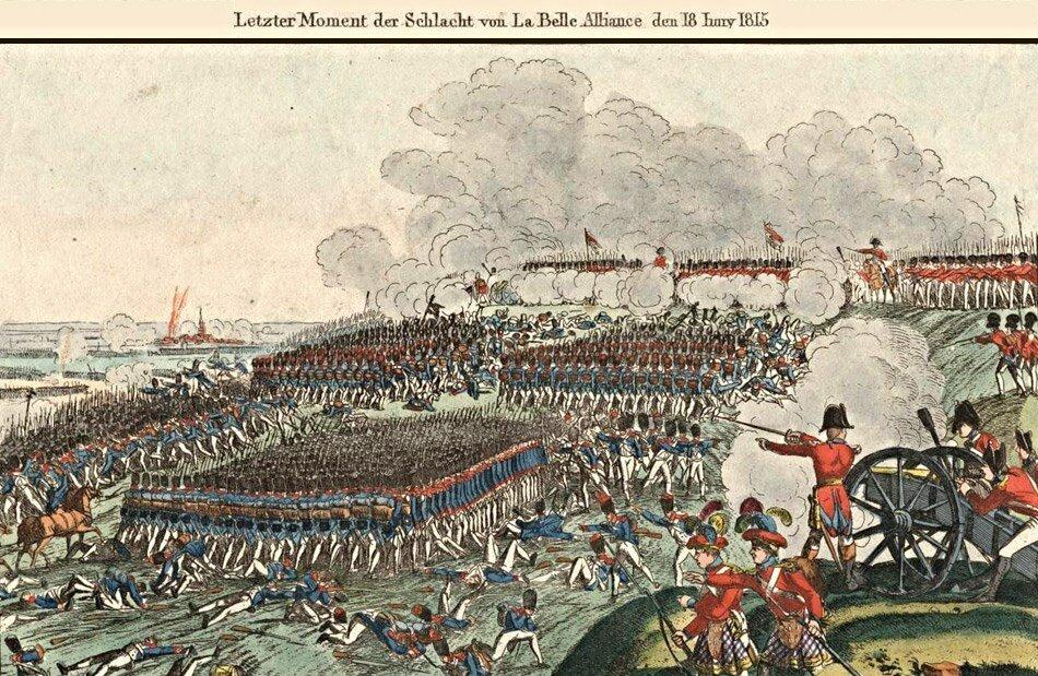 Французский гренадер марш против британского пехотного Фридрих Кампе.jpg