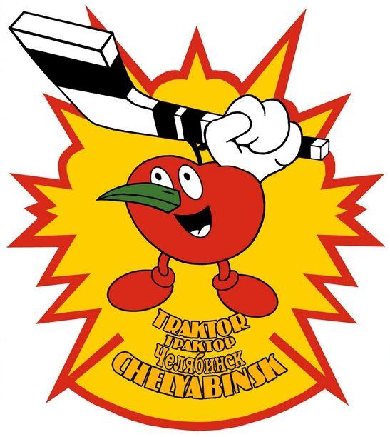 Когда ТРАКТОР участвовал в Кубке Шпенглера, то по требованию организаторов его эмблемой стал вот этот непонятный помидор с носом-перчиком (10.08.2015)