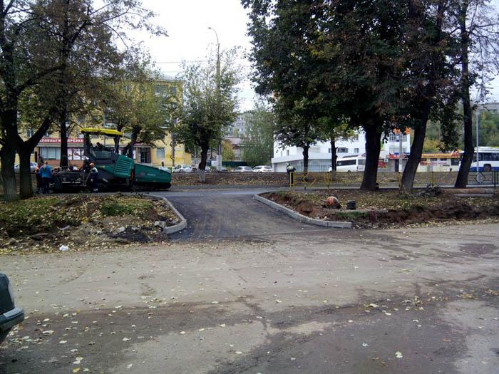 Асфальтирование Ярмарки на Комсомольской