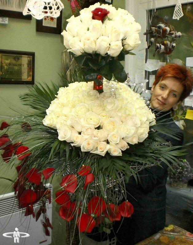 Подарок: Букет из 101 розы