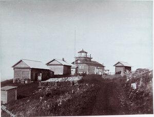 Вид на Жонкиерский маяк на Александровском рейде.