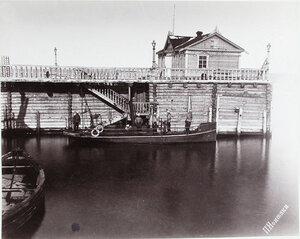 Вид парового морского катера Барон Корф.
