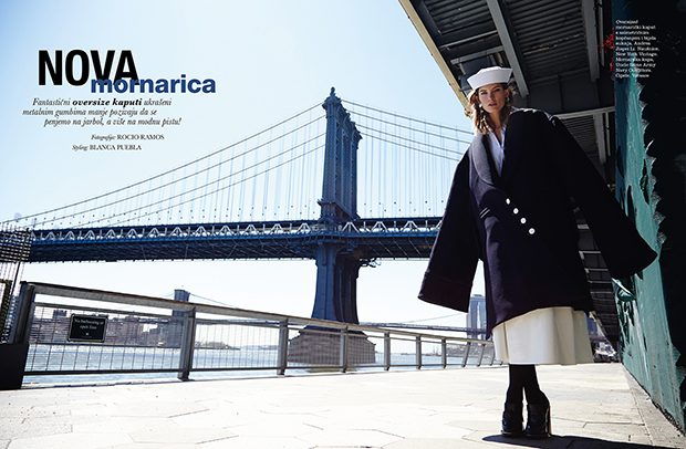 Ava Smith by Rocio Ramos for Elle Croatia Cover Story