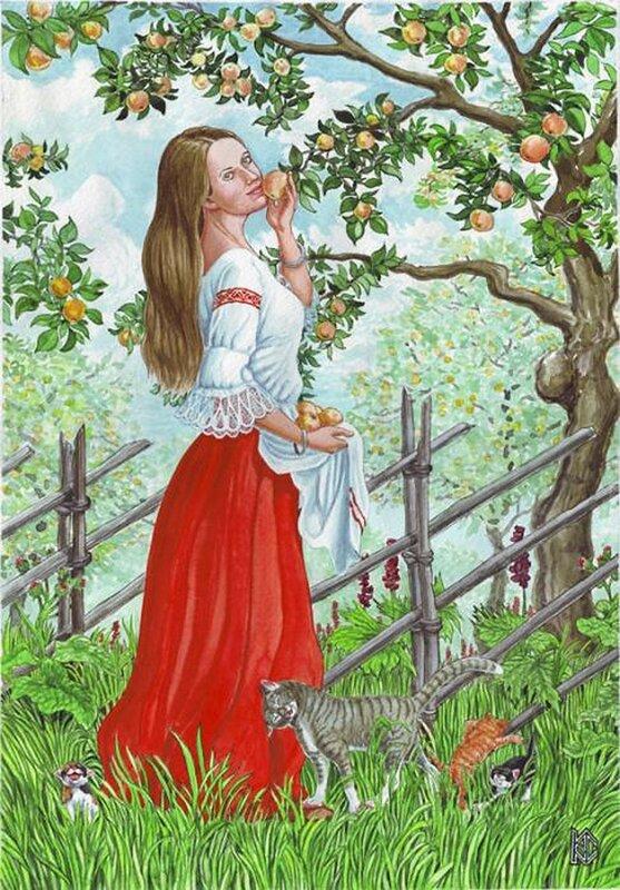 У яблони