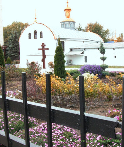 Цветы и церковь