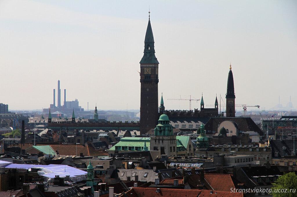Вид со смотровой Круглой башни, Копенгаген