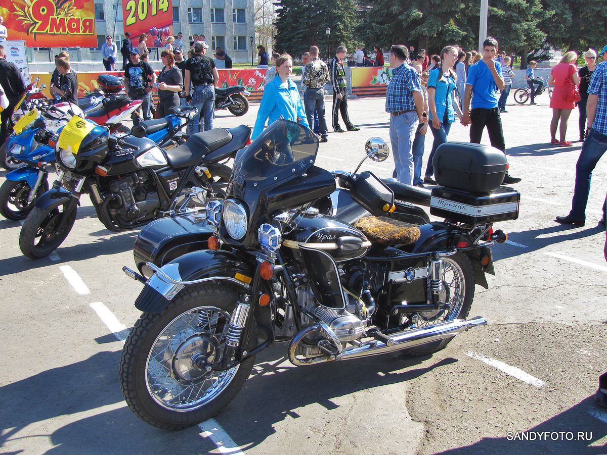 Открытие мото сезона 2014 в Троицке на центральной площади