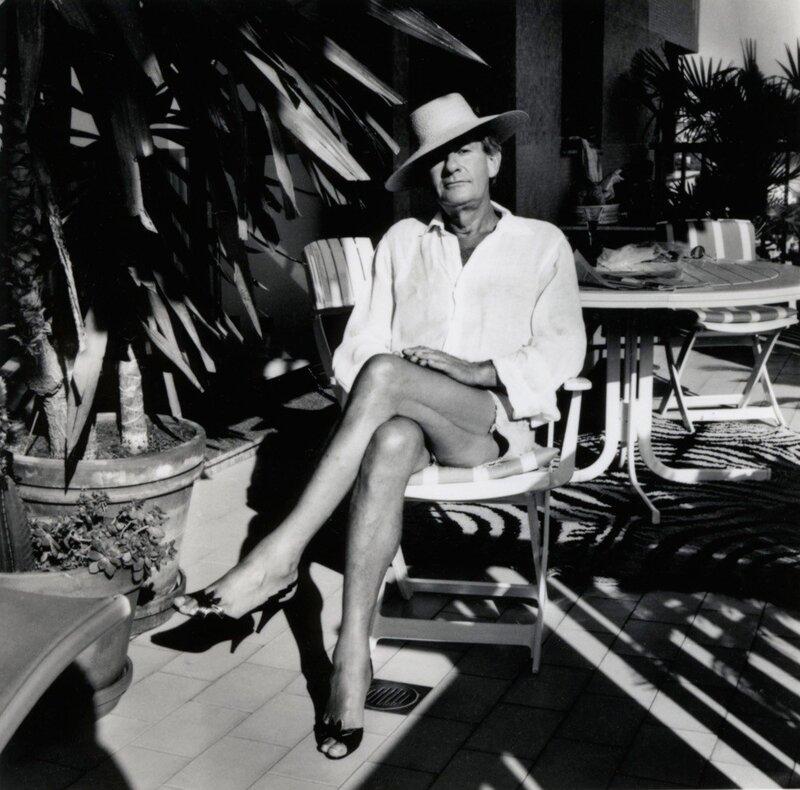 Portrait of Helmut Newton by Alice Springs, taken in Monte-Carlo in the year 1987
