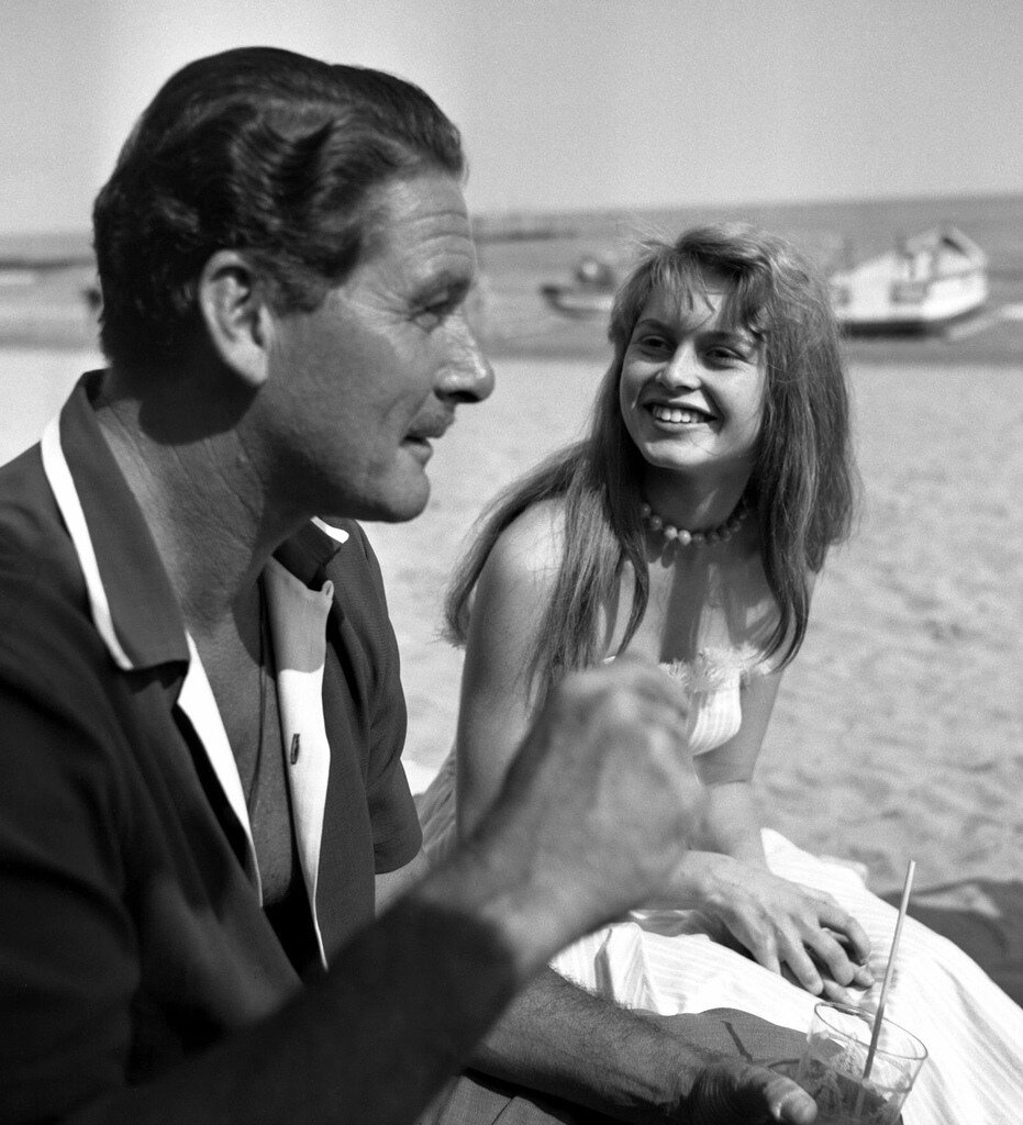 Erroll Flynn and Brigitte Bardot
