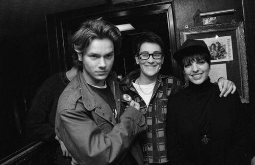 River Phoenix, K.D. Lang and Liza Minnelli