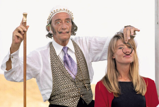 Françoise Hardy and Salvador Dali