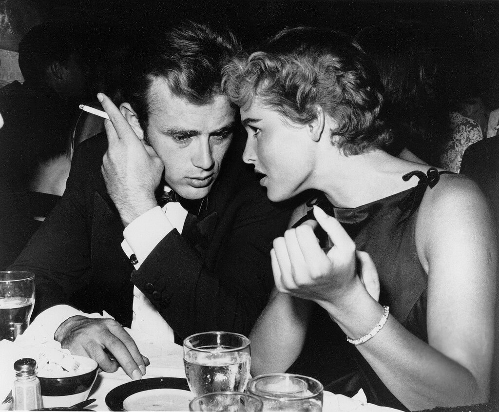 James Dean and Ursula Andress, 1955