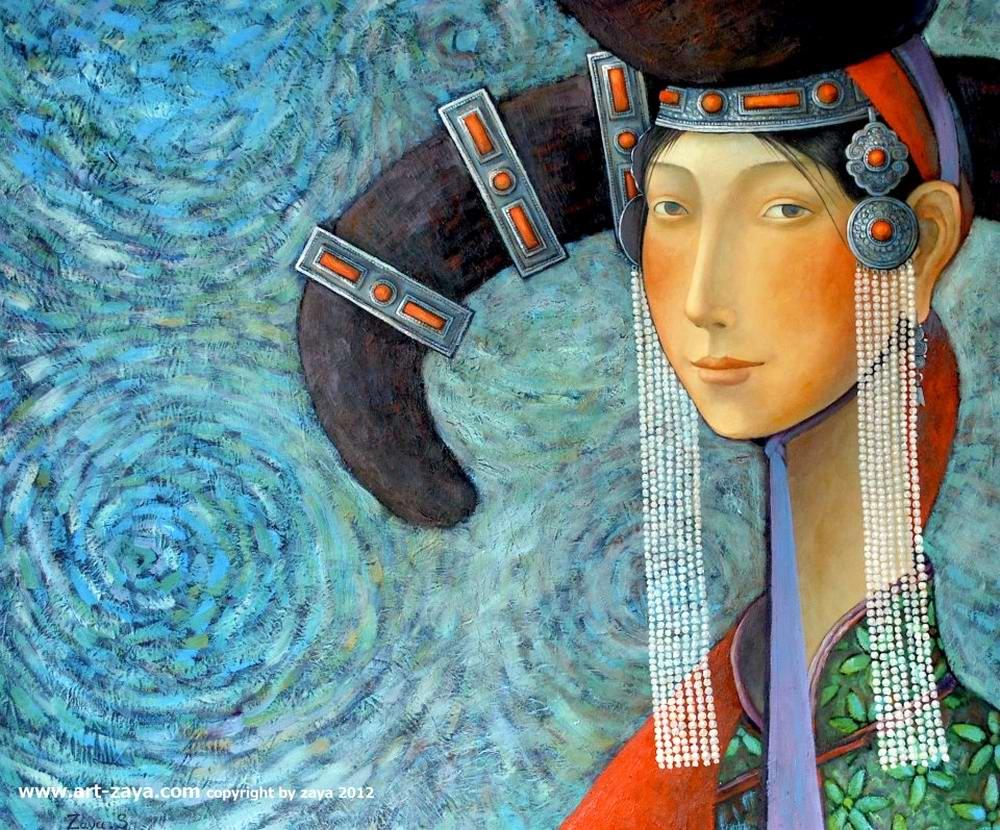 Портрет монгольской девушки