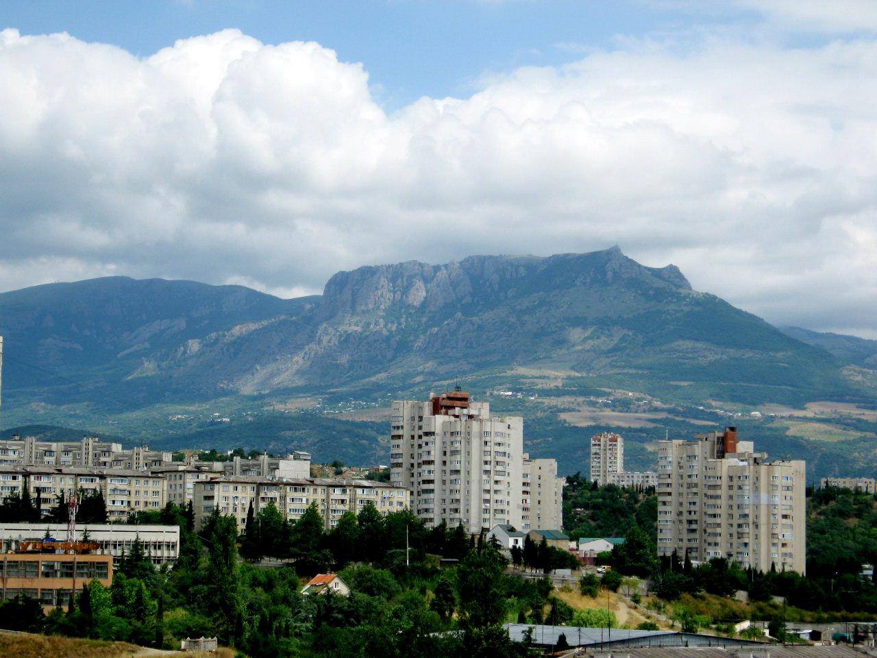 Алуштинская долина, потрясающий вид на горы