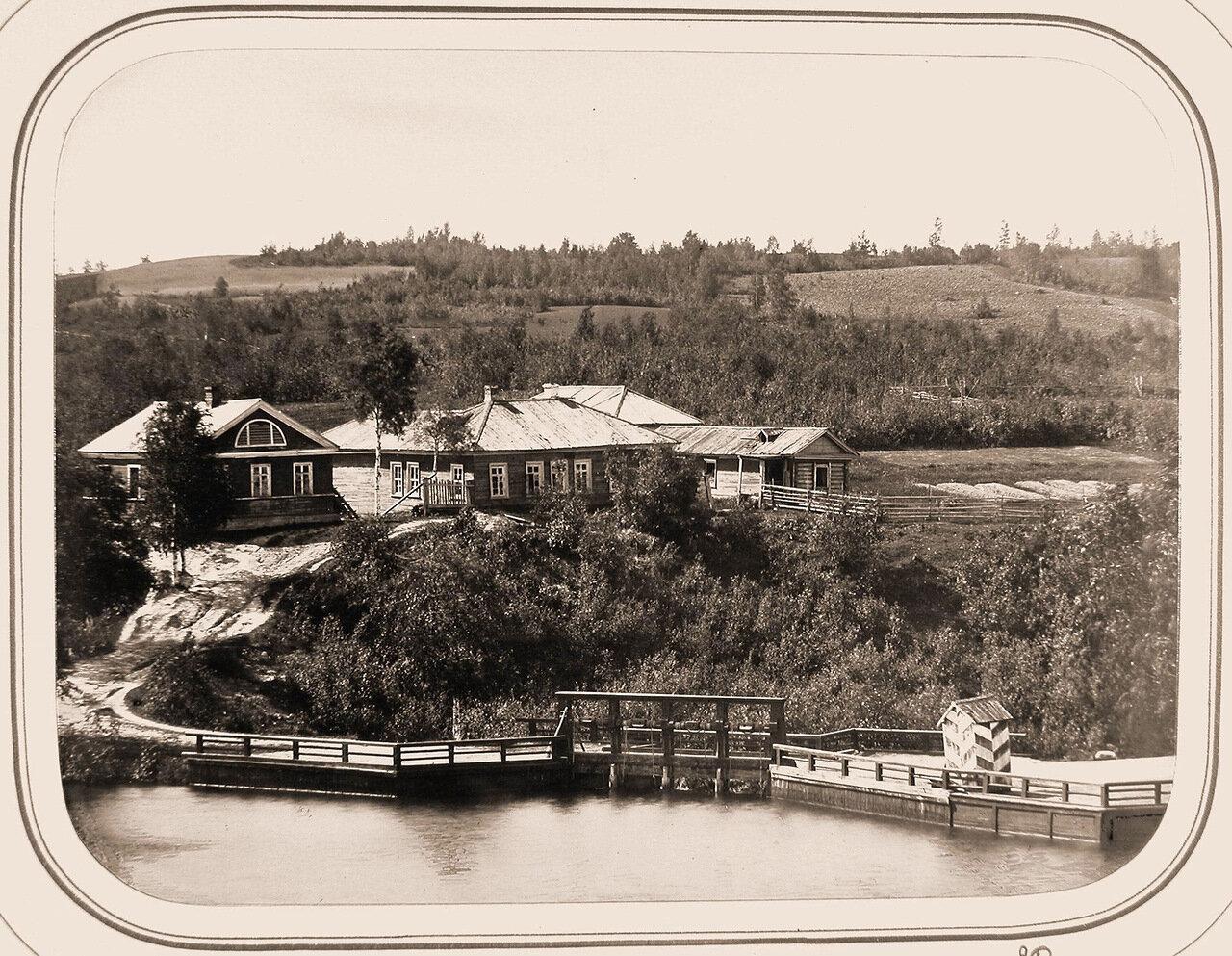 Вид Могилёвской плотины и старого дома помощника начальника отделения