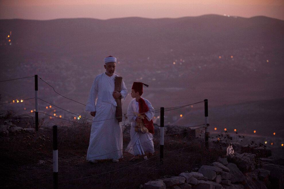 Mideast Israel Palestinians Samaritans Sukkot
